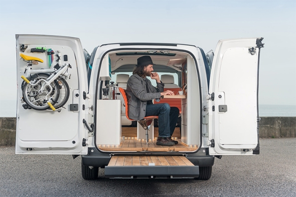 The future of working: Nissan e-NV200 WORKSPACe is the world's